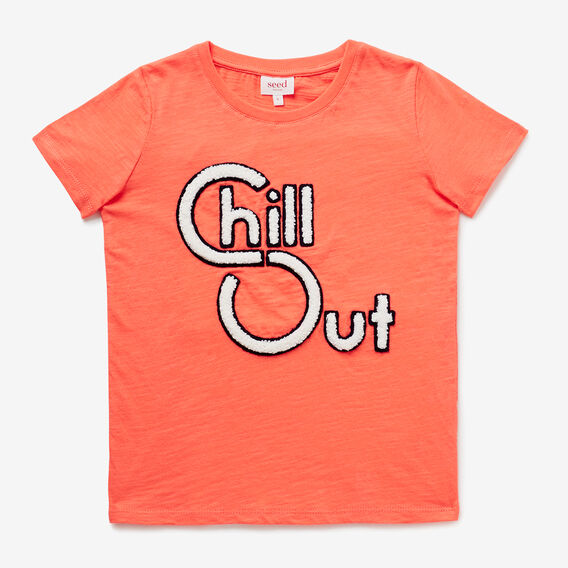 Chill Out Tee  CORAL RED  hi-res