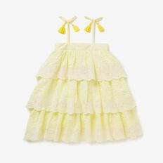 Seersucker Tiered Dress  LEMONADE  hi-res
