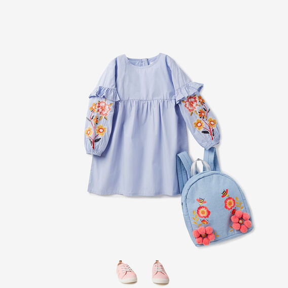 Floral Embroidered Dress  BLUEBELL  hi-res