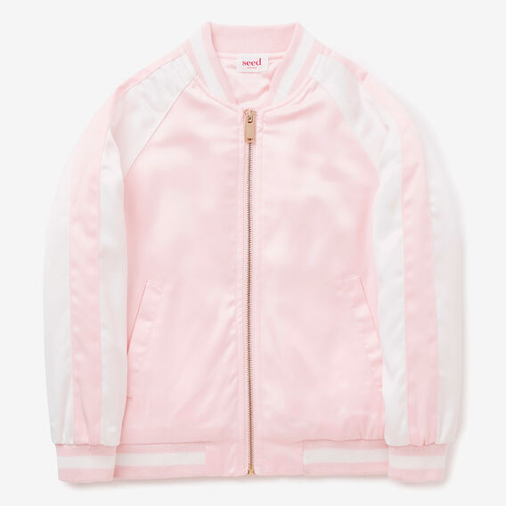 Floral Embroidered Bomber  ICE PINK  hi-res