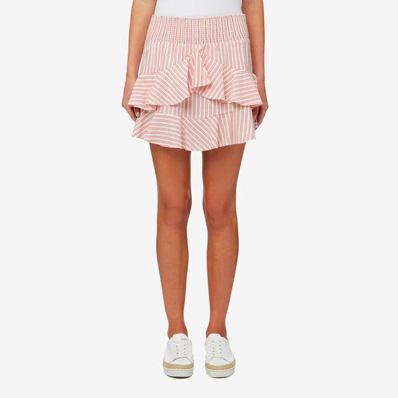 Micro Stripe Skirt  DUSTY RED STRIPE  hi-res