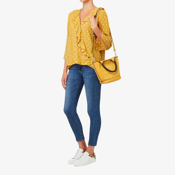 Jacinta Wrapped Handle Bag  HONEY YELLOW  hi-res