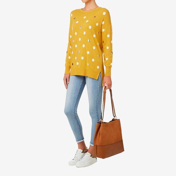 Caitlin Ring Detail Bag  TAN  hi-res