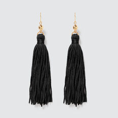 Tassel Earrings  BLACK  hi-res