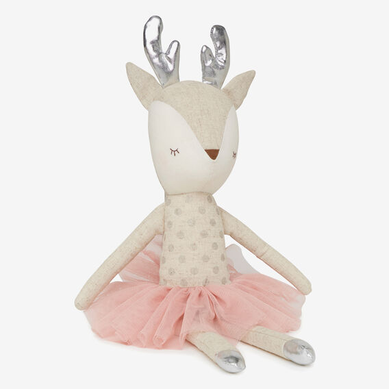 Linen Reindeer Doll  PINK  hi-res