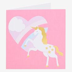 Unicorn Rainbow Card  MULTI  hi-res
