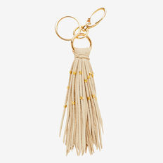 Bead Tassel Keyring  NATURAL  hi-res