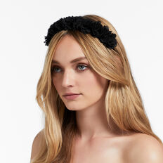 Ruffle Headband  BLACK  hi-res