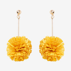 Ruffle Pom Pom Earrings  DAFFODIL  hi-res