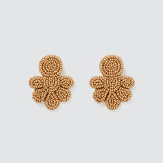 Seed Bead Earrings  GOLD  hi-res