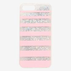 Stripe Glitter Phone Case 7+  LIGHT PINK  hi-res