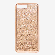 Metallic Crackle Phone Case 7+  ROSE GOLD  hi-res