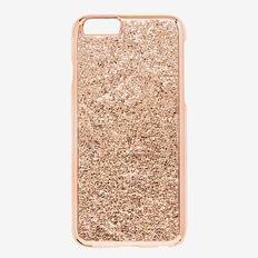 Metallic Crackle Phone Case 6  ROSE GOLD  hi-res