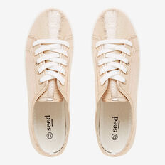 Taylor Lace Up Sneaker  GOLD  hi-res