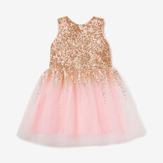 Sequin Sleeveless Dress  ICE PINK  hi-res