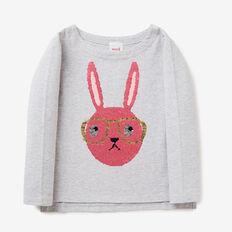 Flip Sequin Bunny Tee  CLOUD  hi-res