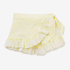 Seersucker Wrap Skort  LEMONADE  hi-res