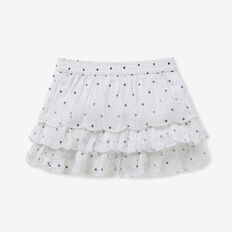 Spot Embroidered Shorts  WHITE  hi-res