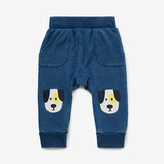 Puppy Knee Trackie  WASHED INDIGO  hi-res