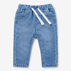 Roll Hem Denim Terry  CLEAR BLUE WASH  hi-res