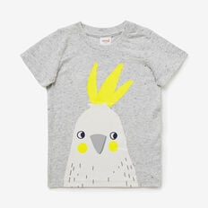 Cockatoo Print Tee  CLOUDY MARLE  hi-res