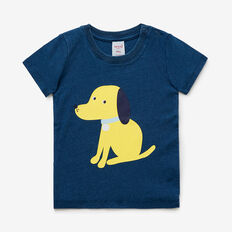 Indigo Puppy Tee  WASHED INDIGO  hi-res