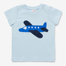 Plane Applique Tee  PACIFIC BLUE  hi-res