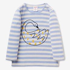 Stripe Swan Tee  BLUEBELL  hi-res