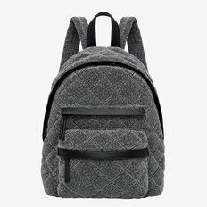 Quilted Backpack  BLACK  hi-res