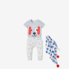 Novelty Puppy Bodysuit  NIAGARA BLUE  hi-res