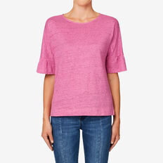 Panel Frill Tee  ORCHID MARLE  hi-res