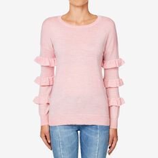Frill Sleeve Neat Sweater  BLOSSOM MARLE  hi-res