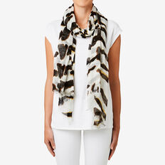 Tiger Scarf  WHITE MULTI  hi-res
