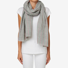 Running Stitch Scarf  GREY/ ORCHID  hi-res