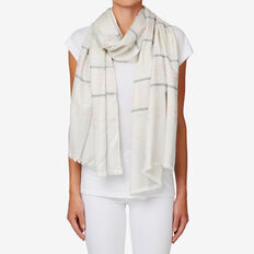 Jacquard Stripe Scarf  GREY MULTI  hi-res