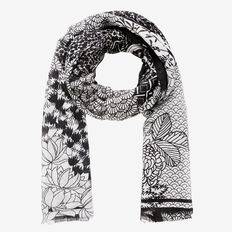 Japanese Garden Scarf  GREY MULTI  hi-res