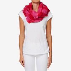 Check Snood  BOLD RED/ ORCHID  hi-res