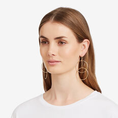Linked Circle Earrings  GOLD  hi-res