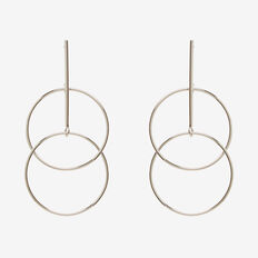 Linked Circle Earrings  SILVER  hi-res