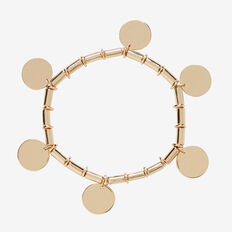 Beaded Disc Bracelet  GOLD  hi-res