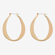 Small Oval Hoops  GOLD  hi-res
