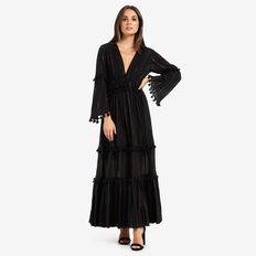 Tassel Trim Dress  BLACK  hi-res
