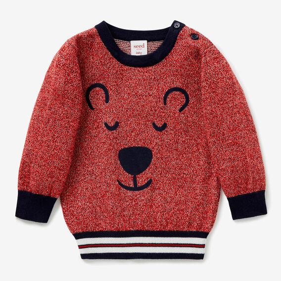 Speckle Bear Knit Sweater  MULTI  hi-res
