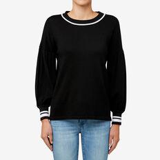 Blouson Sleeve Sweater  BLACK  hi-res