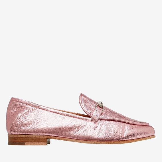 Valentina Metallic Loafer  PINK  hi-res