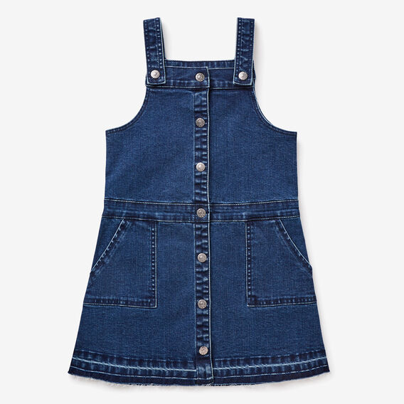 Exposed Hem Pinafore  MEDIUM WASH  hi-res