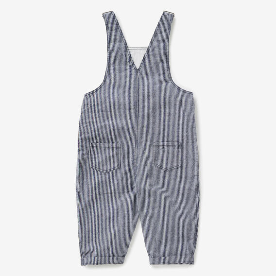 Woven Stripe Overalls  MIDNIGHT BLUE  hi-res