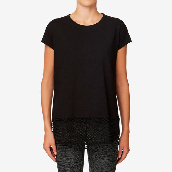 Mesh Tee  BLACK  hi-res