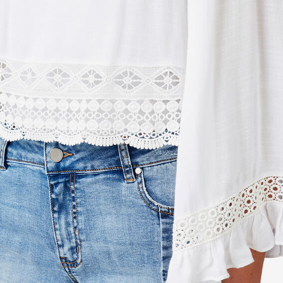 Oversized Sleeve Top  BRIGHT WHITE  hi-res
