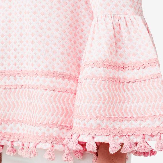 Textured Contrast Top  SOFT PINK  hi-res